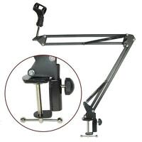 Broadcast Studio Microphone Suspension Boom Scissor Arm stand with Shock Mount
