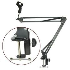 Microphone Stand Mic Clip Arm Desk Holder 360-Degree Rotating Folding Type Boom
