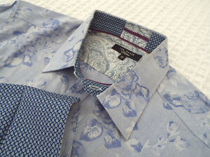 """TED BAKER Mens Shirt 🌍 Size 15"""" (36"""" CHEST)🌎 RRP £110+📮FANTASTICALLY FLORAL"""