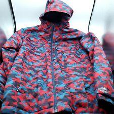 Boys Columbia Size Large Omni Heat Winter Jacket Red Blue Multi Camo Sleeve Grow