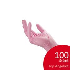 100St. NITRIL Handschuhe pink Gr.S Puderfrei Einmalhandschuhe Vinyl Latex