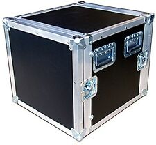 "10 Space 10 Sp 10u 3/8"" Plywood 18"" Deep ATA AMP RACK CASE - New!"