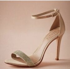 New SCHUTZ 8  EU 38 Rose Gold Glitter Strappy sandals satin Bridal Strap Formal