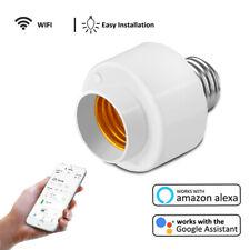 Wifi Smart Light Bulb Socket Adapter E26 E27 Lamp Holder Work With Alexa Google
