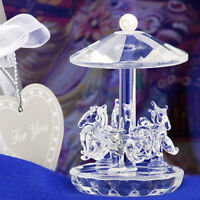 Choice Clear Crystal Horse Carousel Ornament - Gift Boxed