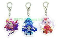 Set of 3 League Of Legends (LOL) Video Game Acrylic Keychain Lulu, Sona, Fortune