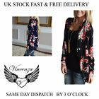 VINCENZA DONNA CASUAL CARDIGAN loose-sweater manica FLOREALE DONNA GIACCA UK