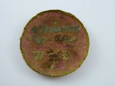 More details for rare antique georgian embroidered pocket watch sampler for pair case watch