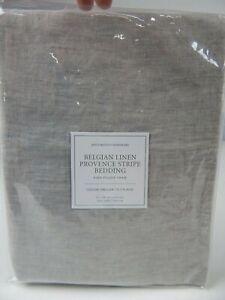 Restoration Hardware Belgian Linen Provence Stripe Bedding Pillow Sham, King