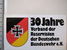 Aufkleber Sticker 30 Jahre Verband der Reservisten deutsche Bundeswehr (3233)