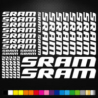 Sram Vinyl Decals Stickers Sheet Bike Frame Cycle Cycling Bicycle Mtb Road