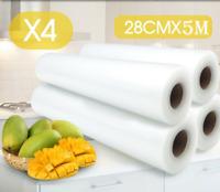 4x Vacuum Sealing Roll Bags Storage Food Saver Kitchen Plastic Heat Seal Bag CA