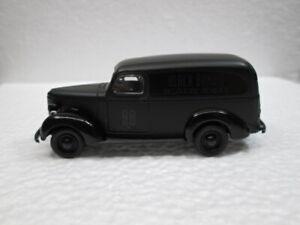 1939 CHEVY PANEL VAN    black   LOOSE S SCALE DIE-CAST