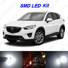 9 x White LED interior Bulbs + License Plate Lights for 2013-2016 Mazda CX-5 CX5