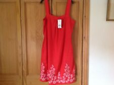BNWT NEXT LINEN TUNIC SUN DRESS WITH EMBROIDERY SZ 14 LOVELY FOR SUMMER