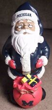 "NEW UofM MICHIGAN WOLVERINES FOOTBALL 10"" SANTA CHRISTMAS BIG 10 GO BLUE VICTORS"