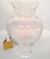 Vaso Rigatti in vetro trasparente inciso decorato a mano da collezione [#88]