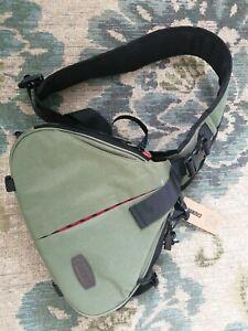 CaDen Waterproof DSLR Camera Bag Messenger Shoulder Bag Case Pouch Green UK X4C2