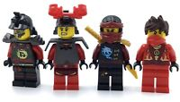 LEGO LOT OF 4 NINJAGO MINIFIGURES KAI ROBO SAMAUAI NINJA GENUINE FIGS