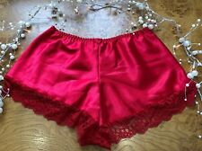 Vintage House of Satin XXOS Red Cami Lace Trim French Knickers Silky Look £12