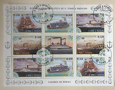 SAO TOME and PRINCIPE 1984  Maritime Mini Sheet. Good Used