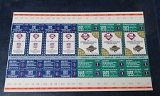 1993 World Series & NLCS Championship Unused sheet of Tickets Blue Jays Phillies