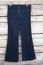 Theory women Blue Flare Bottom Jeans Size 8 Low rise stretch button fly