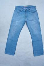 """Levis 506 """"Standard"""" Hellblau Denim Jeans Gerades Bein Rot Tab W33 L31 Faded"""