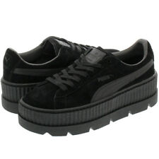 Womens PUMA Fenty Cleated Creepers Black Suede Trainers Shoes UK 8