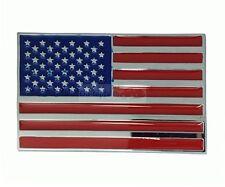 America United States USA Flag Plastic ABS Side Rear Trunk Emblem Badge Sticker