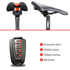 Bike Bicycle Indicator LED USB Alarm Warn Bell Lamp Rear Light Taillight Burglar