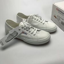 Superga 2750 Cotu Classic Womens White Canvas Trainers UK 6 EUR 39.5 US 8.5