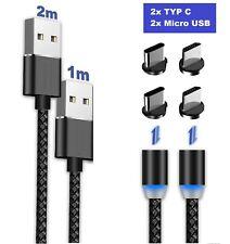 Samsung Galaxy Ladekabel Magnet TYP-C Micro USB LED 1M - 2M Huawei Xiaomi LG