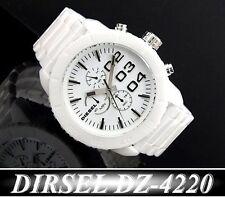 DIESEL MEN'S COLLECTION WHITE CERAMIC CHRONOGRAPH WATCH DZ4220