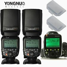 2 X Yongnuo YN600EX-RT II Wireless HSS Flash +YN-E3-RT Transmitter Set &Diffuser