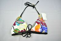 Trina Turk Womens Radiant Blooms Fixed Triangle Bikini Top, Size 4, Multicolor