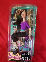 Made to Move Yoga Asian Barbie PURPLE Top BLACK Hair Posable Articulated Doll
