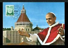 Israel Event Post Card His Holliness Pope Paul VI Nazareth 24.12.1967  x22868