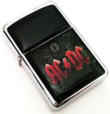 AC/DC Black Ice Silver Smoking Cigarette Petrol Lighter Metal Rock Merch
