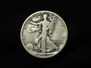 1919-D Walking Liberty Half Dollar NICE VG
