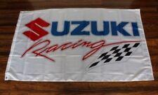Suzuki Banner Flag Racing Team Checkered Motorcycle Bike Biker Motocross MotoGP