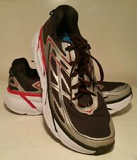 HOKA ONE ONE Men's Clifton 3 Size 10 Grey Red Black Running Shoe 1012046