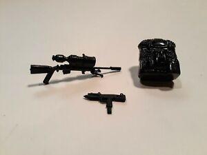 GI Joe / Cobra 1986 Low Light weapons and backpack (original bipod)
