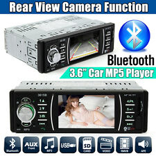 DC 12V 3.6'' HD Bluetooth Car Remote MP5 Player Radio Audio Stereo FM USB SD AUX