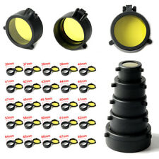 Hunting Airsoft Scope Lens Cover Protector Cap Flip Open Scope Yellow Cover Us