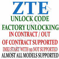 Unlock code service for Telstra 4GX Smart Telstra 4GX Plus ZTE Blade A462