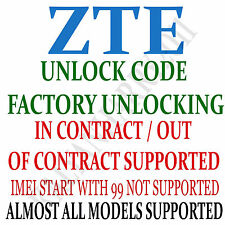 Unlock Code ZTE Modem MF64 MF65 MF65M MF65+ T-Mobile Orange MF923 AT&T VELOCITY