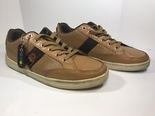 Men's COOGI Lt Brown Leather Low Top Sneakers (CM1125) ~ Size US 11