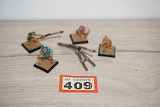 LOT 409 - Warhammer Fantasy Hobgoblin Rocket Launcher & Crew - Classic Metal