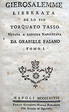 CAMPANIA NARRATIVA DIALETTALE TORQUATO TASSO OPERA IN 2 VOLUMI
